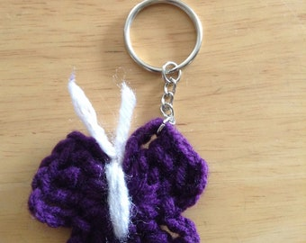 Crocheted Butterfly Keychain