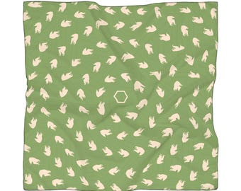 The Sloth Spiral Oversized Bandana | Green | Streetwear Music Festival Electric Forest