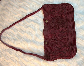 Knit Cabled Nylon Bag