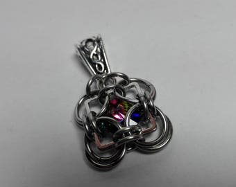 Pendant Crystal in a Square