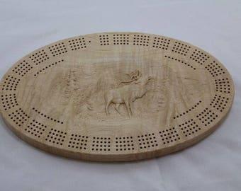 4- Track Elk Cribbage Board