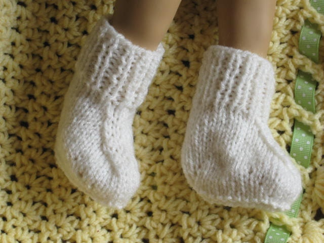 PDF KNITTING Pattern - Easiest Booties Ever - Low Birthweight ...