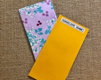 Laminated Cash Envelope - Mave Spring Garden