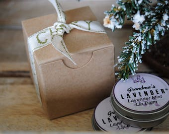 Lavender Mint Lip Balm Tin Set