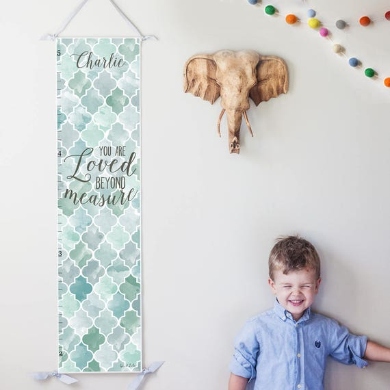 Loved Beyond Measure canvas growth chart in blue and gray