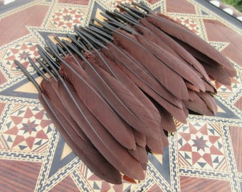 Goose 10-15cm brown chocolate brown 25pcs