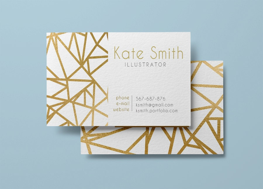 Gold business card template modern business card design zoom colourmoves