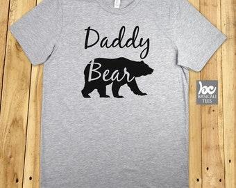 Daddy Bear Shirt - Soft Cotton T-Shirt - Unisex Tee - Gift for Dads -Guy Shirt,Dad Gifts,Papa Shirt,Bear,Family
