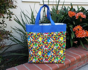 M&M Reusable Multipurpose Bag (Grocery, Beach etc.) with Waterproof lining
