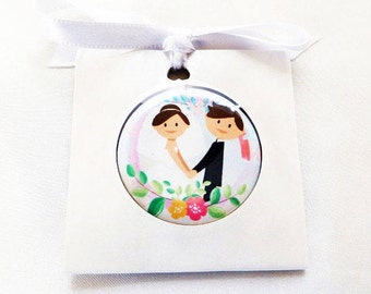 wedding favor magnets button wedding magnet  guests thank you magnets wedding guest gift 1.25 inch