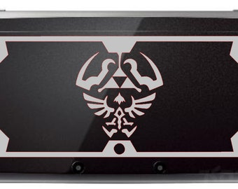 Hylian Shield Decal Kit for black 3DS