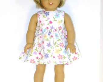 18 inch Doll Dress Multicolored Flowered Doll Dress Fits American Girl Dolls