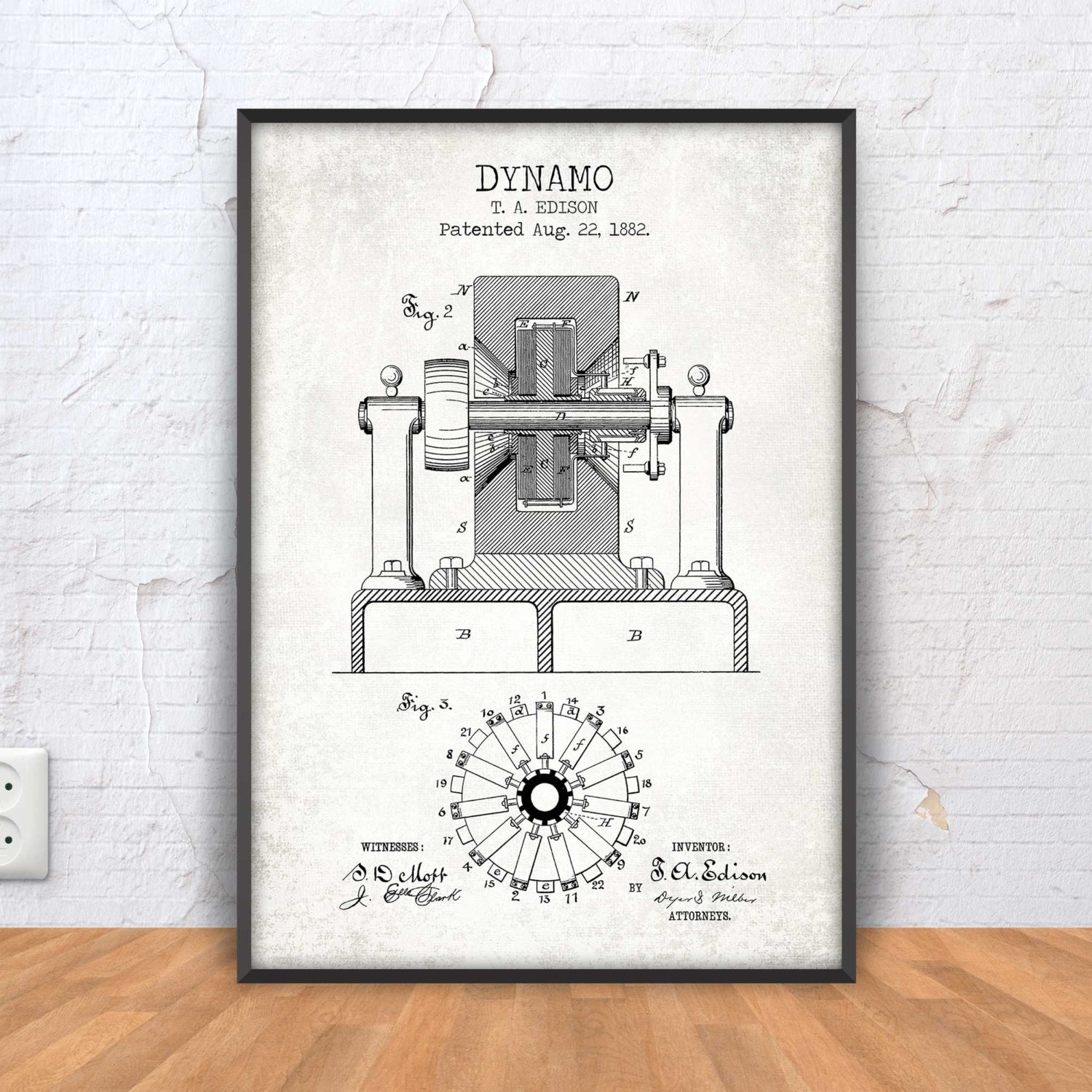 Dynamo poster dynamo patent print dynamo blueprint school zoom malvernweather Image collections