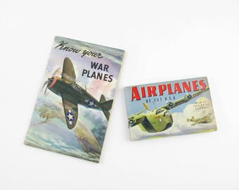 Airplane ID Books  - Two Paperbacks From the '40s - Airplane History - 'Know Your War Planes' and 'Airplanes of the U.S.A.'