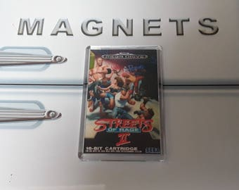 Streets of Rage 2 Fridge Magnet. Videogame Box Art. Megadrive