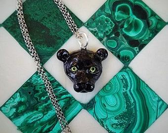 Bagheera Black Panther Necklace