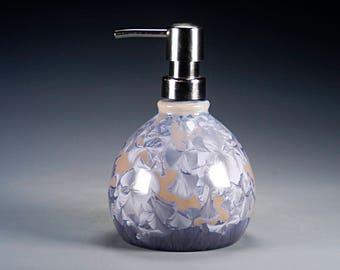 Porcelain Lotion Bottle / Soap Dispenser - Multicolor - Crystalline Glaze - Hand Made Ceramics - FREE SHIPPING - #LC-713