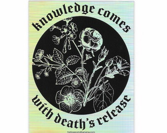 Death's Release // Holographic Sticker