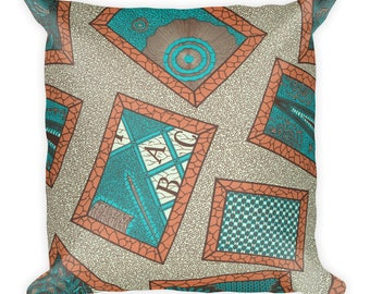 Namukasa African inspired wax printSquare Pillow