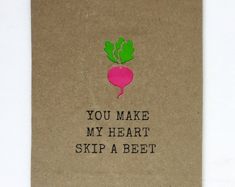 Boyfriend Card - Funny Love Card - For Girlfriend - Anniversary Card - Gift For Her - Gift For Him - I Love You - Funny Birthday Card - Beet