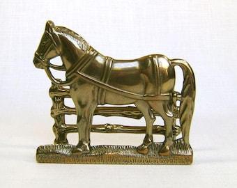 Vintage Equestrian Letter Rack