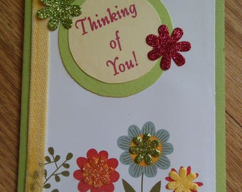 Handmade Thinking of you card / Fall cards / Greeting cards / Handmade cards