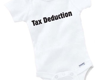 Tax Deduction Onesie Bodysuit Baby Shower Gift Funny Geek Nerd Cute Accountant Season