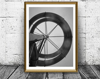 Architecture Print, Circles Pipe Print, Abstract Print, Black White Print, Wall Art, Printable, Home Decor, Digital Print