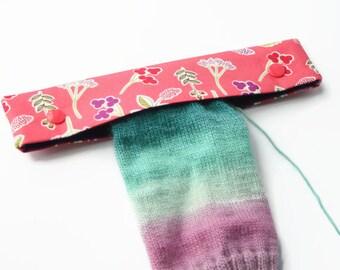 """DPN Holder, 8"""" DPN Case, DPN Cosy - Knitting Accessory, Double Pointed Needle Case, Knitting Needle Case, Sock Knitting Holder - Pink"""