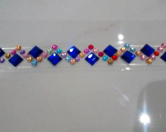 Rhinestone 10 mm sold by 50 cm decorative adhesive tape