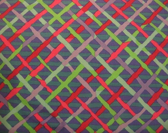 SALE - 2 yards Mad Plaid in cobalt from the Kaffe Fassett Collection