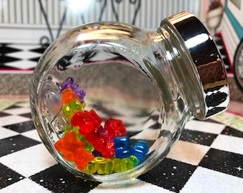 American Girl Our Generation 18 Inch Doll Large Glass Candy Jar of Faux Gummi Bears