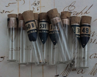 Small Glass Vials for Watch Parts Waltham