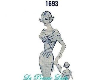 Repro Vintage Pattern Modes Royale 1693 Sheath Dress 1960s  No 4 on Printable PDF Bust 34