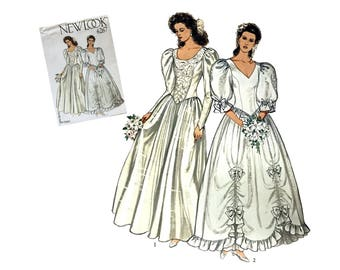 Vintage Bridal Gown Pattern Wedding Dress Pattern New Look 6267 Sewing Pattern Misses Size 8 10 12 14 16 18 Rare Pattern Collectible Pattern