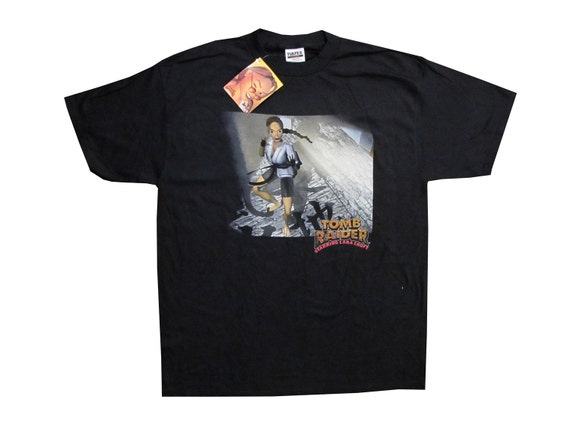 Vintage Lara Croft Tomb Raider Video Game T-Shirt