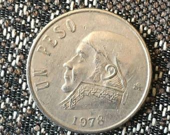 1978 Un Peso Mexican