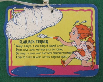 Vintage 1920's Bridal Shower Cartoon Gift Card - Flapjack Turner - Free Shipping