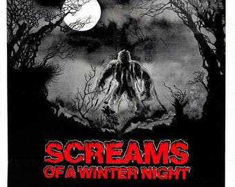 Screams of a Winter Night (1979) movie poster 11 x 17 horror anthology film Bigfoot Sasquatch evil spirits Nightmare USA Stephen Thrower