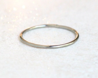white gold ring. wedding ring. SOLID 14k palladium white gold wedding band. engagement ring. minimalist stacking ring. promise ring. for her