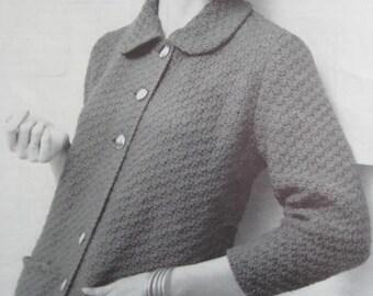 1950's Vintage Knitting PDF Pattern Women's Sweater 729-11