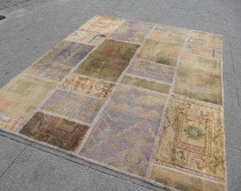 patchwork rug runner, rug patchwork, turkish rug, vintage turkish decor rug, overdyed rug, Moroccan Rug,