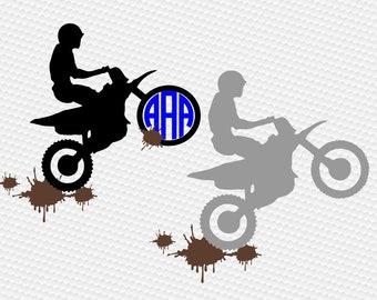Dirt bike svg, Motocross svg, Dirt bike clipart, Motocross silhouette, Motorcycle svg, Motocross shirt, SVG, DXF, eps, png, pdf, Monogram