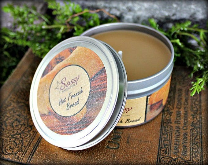 HOT FRENCH BREAD | Candle Tin (4 or 8 oz) | Sassy Kandle Co.