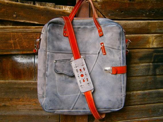 Waterproof Waxed Leather Messenger Bag 15 inch laptop bag, office bag, school bag, students bag, handmade bag, office bag,