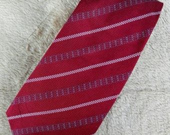 Vtg 100% Silk GIORGIO ARMANI Stripes Necktie Made In Italy