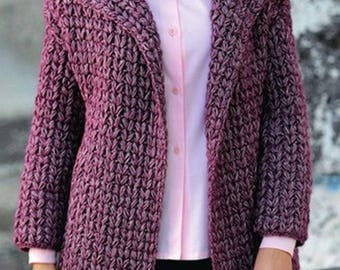 Ladies crochet Alpaca coat / order