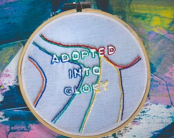 Colorful Glory - Hand Embroidered