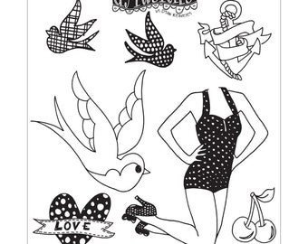 """Dyan Reaveley's Dylusions Cling Stamp Collections 8.5""""X7"""" - JAY JOLLIES"""