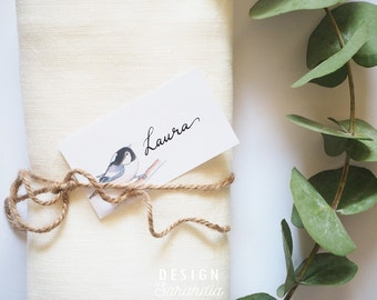 Printable gift tag place card Little birds - instant download